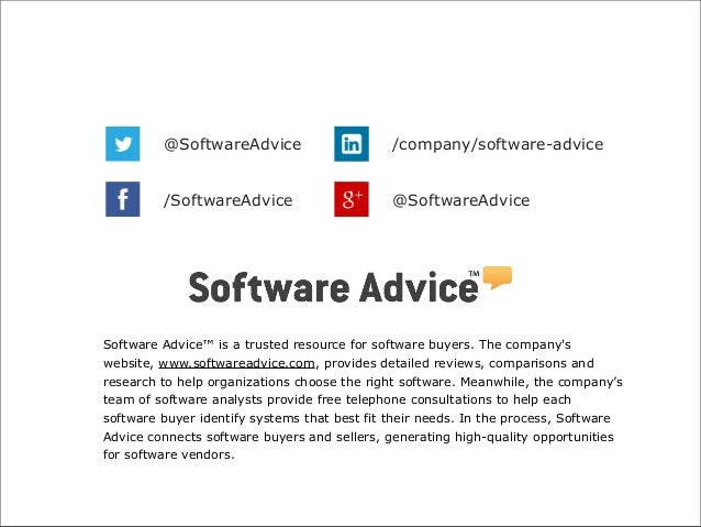 @SoftwareAdvice  /company/software-advice  /SoftwareAdvice  @SoftwareAdvice  Software Advice™ is a trusted resource for so...