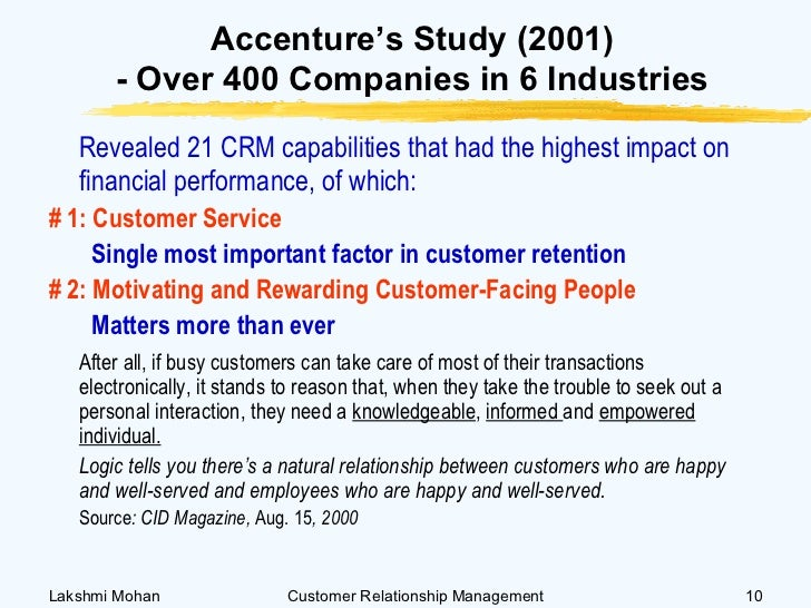 impact of crm on customer retention The impact of customer relationship management satoshi ueno customer-retention and churn reduction strategies dictates a need for best practice crm.