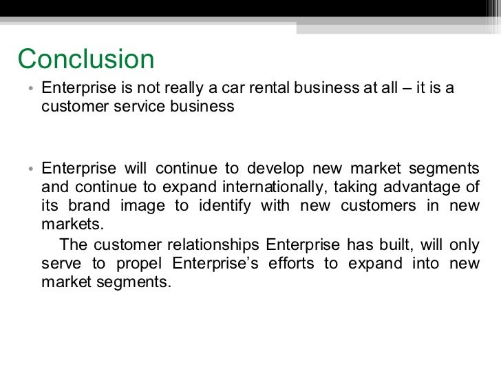 case study enterprise rent a car Extracts from this document introduction enterprise rent-a-car selling the dream objective of the assignment the objective of this assignment is to answer the given questions in the case study, reflecting to what was learned through marketing classes and analyze it using the case study company background enterprise is the largest car rental.