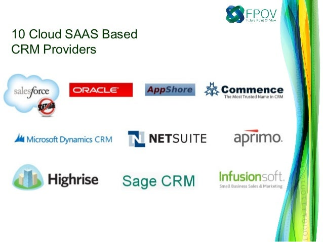 10 Cloud Saas Based Crm Providers