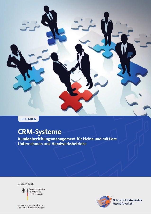 CRM-SystemeKundenbeziehungsmanagement für kleine und mittlereUnternehmen und HandwerksbetriebeLeitfaden