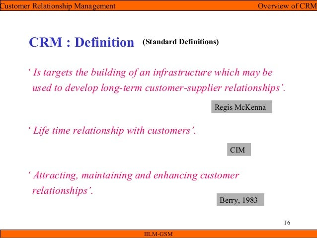 Crm unit i (overview of crm)