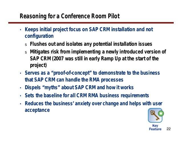 Conference Room Pilot Sap