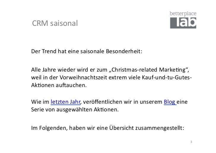 """CRM saisonal Der Trend hat eine saisonale Besonderheit:   Alle Jahre wieder wird er zum """"C..."""