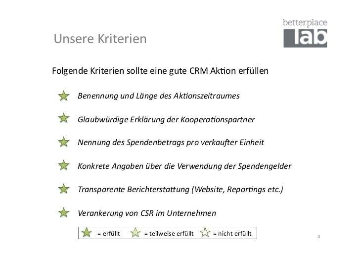 Unsere Kriterien Folgende Kriterien sollte eine gute CRM Ak-on erfüllen           Benennung und...