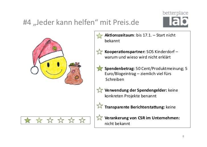 """#4 """"Jeder kann helfen"""" mit Preis.de                                          Ak#onszeitaum: ..."""