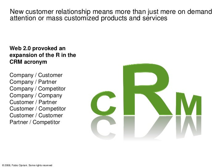 New customer relationship means more than just mere on demand      attention or mass customized products and services     ...