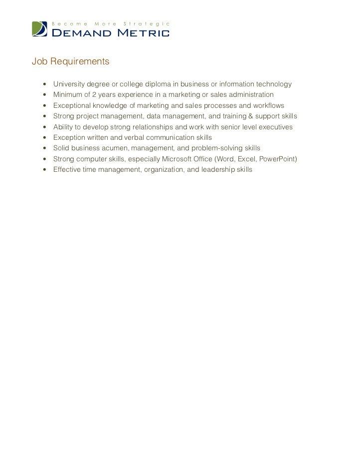 Crm Administrator Job Description