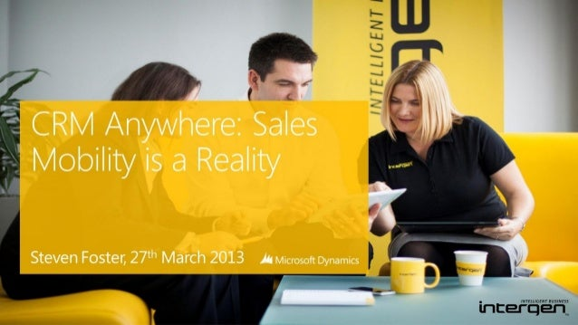CRM Anywhere: Improve Sales Mobility