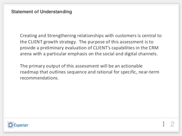 Crm assessment template