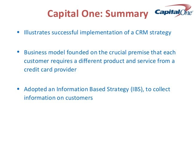 CRM at capital one