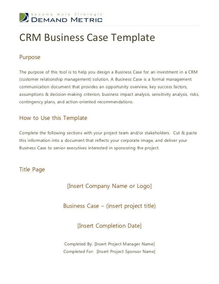 business case templates