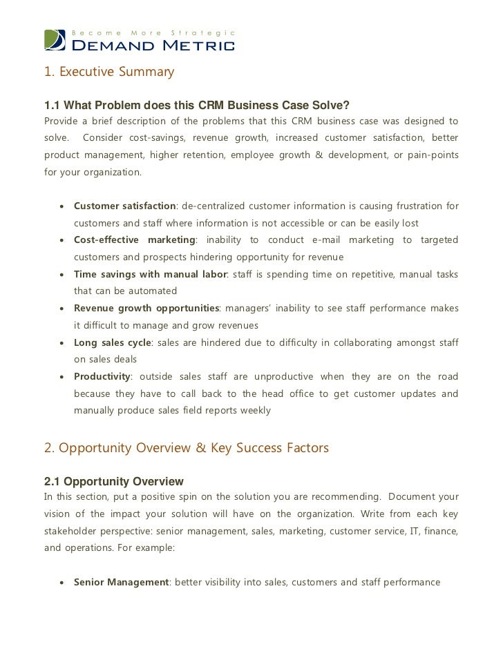 Crm business case template recommendation 12 61 action plan 3 wajeb Image collections