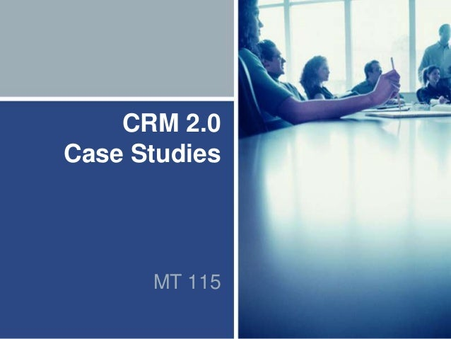 mba crm case studies report in india