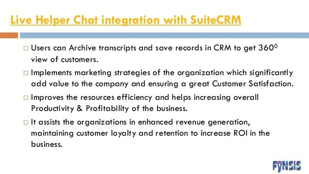 CRM Chat tool integration