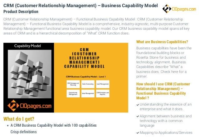 crm capability CRM Business Capability Model