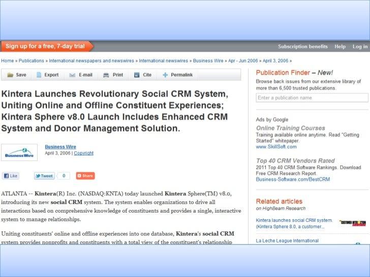 Is Social CRM Reaching It's Promise? Slide 2