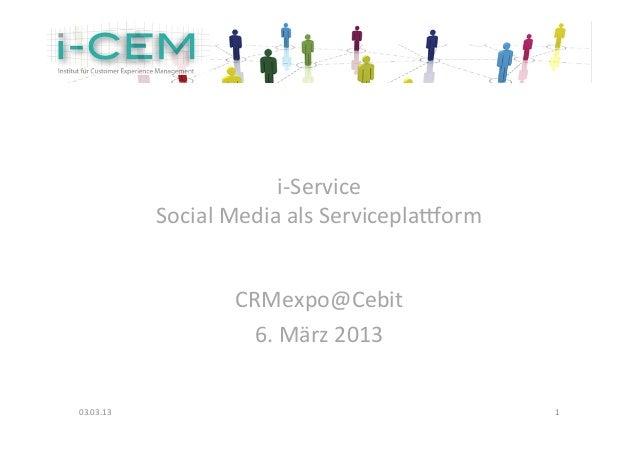 i-‐Service                 Social Media a...