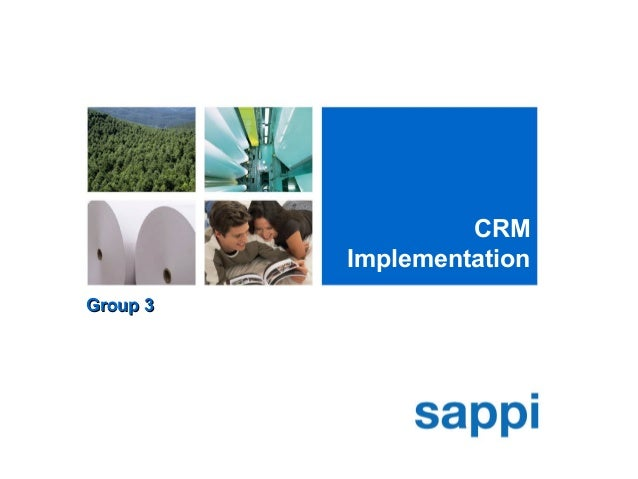 CRM Implementation Group 3Group 3