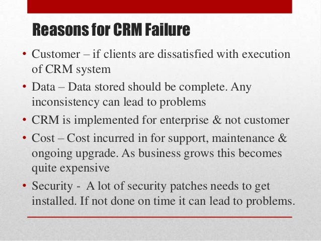 crm implementation failure at cigna corporation case study ppt