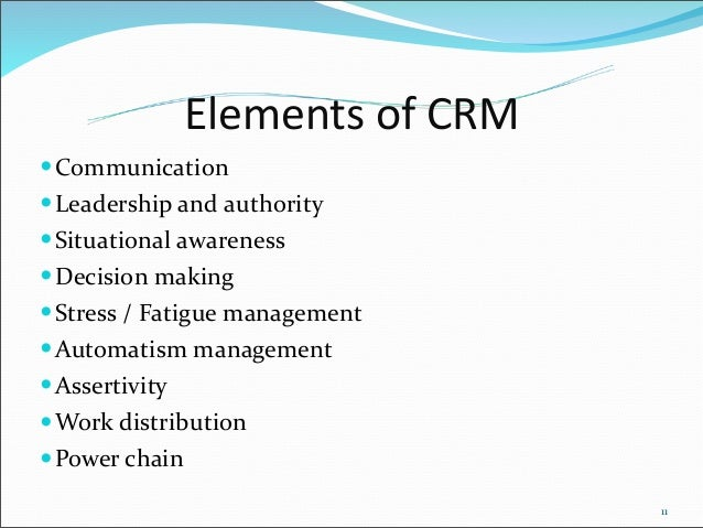 elements of crm CRM