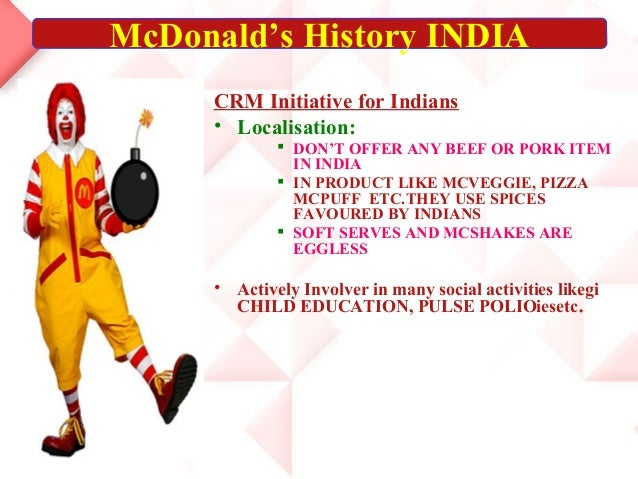 customer relationship management of mcdonalds