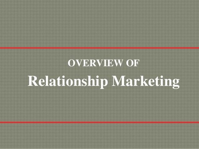 OVERVIEW OFRelationship Marketing