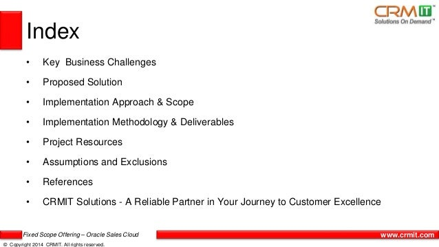 CRMIT Solutions Fixed Scope Offering for Oracle Sales Cloud Slide 3