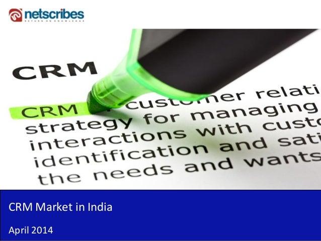 CRM Market in India April 2014