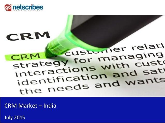CRM Market – India July 2015