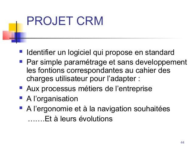 cahier des charges crm pdf