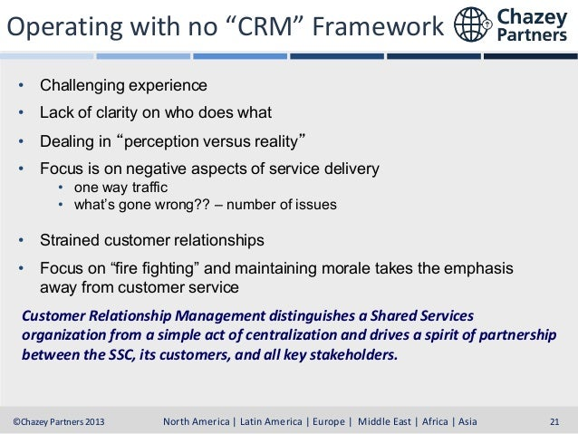 """Operating with no """"CRM"""" Framework • Challenging experience • Lack of clarity on who does what • Dealing in """"perception ver..."""