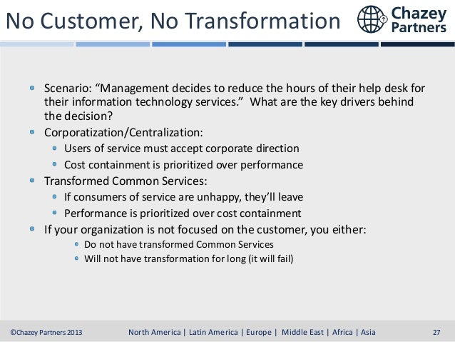"""No Customer, No Transformation Scenario: """"Management decides to reduce the hours of their help desk for their information ..."""
