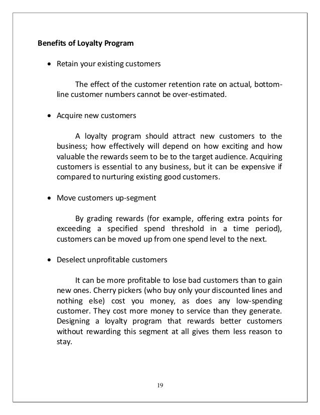the impact of customer loyalty on businesses The long-term impact of a loyalty program: an evaluation from a the long-term impact of a loyalty program: an evaluation from a las customer loyalty.