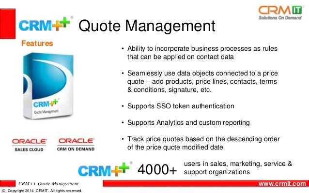 CRM Quote Management Adorable Crm Quote