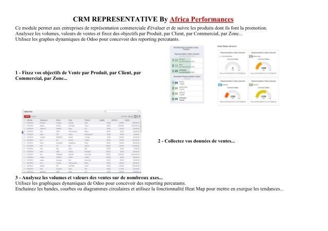 Crm representative - Africa Performances