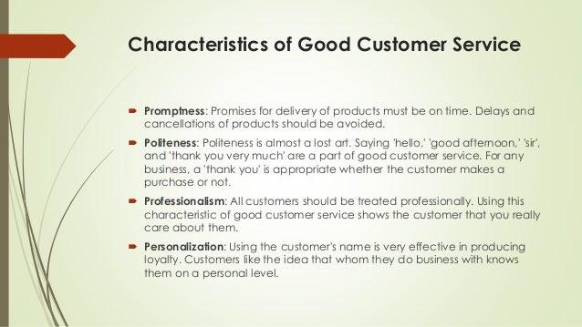 characteristics of good customer service