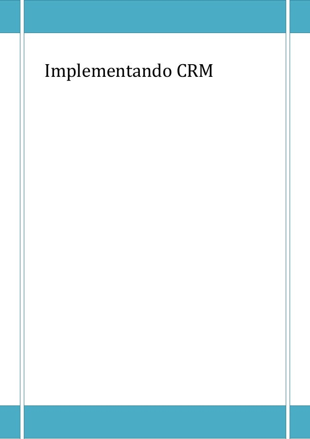 Implementando CRM