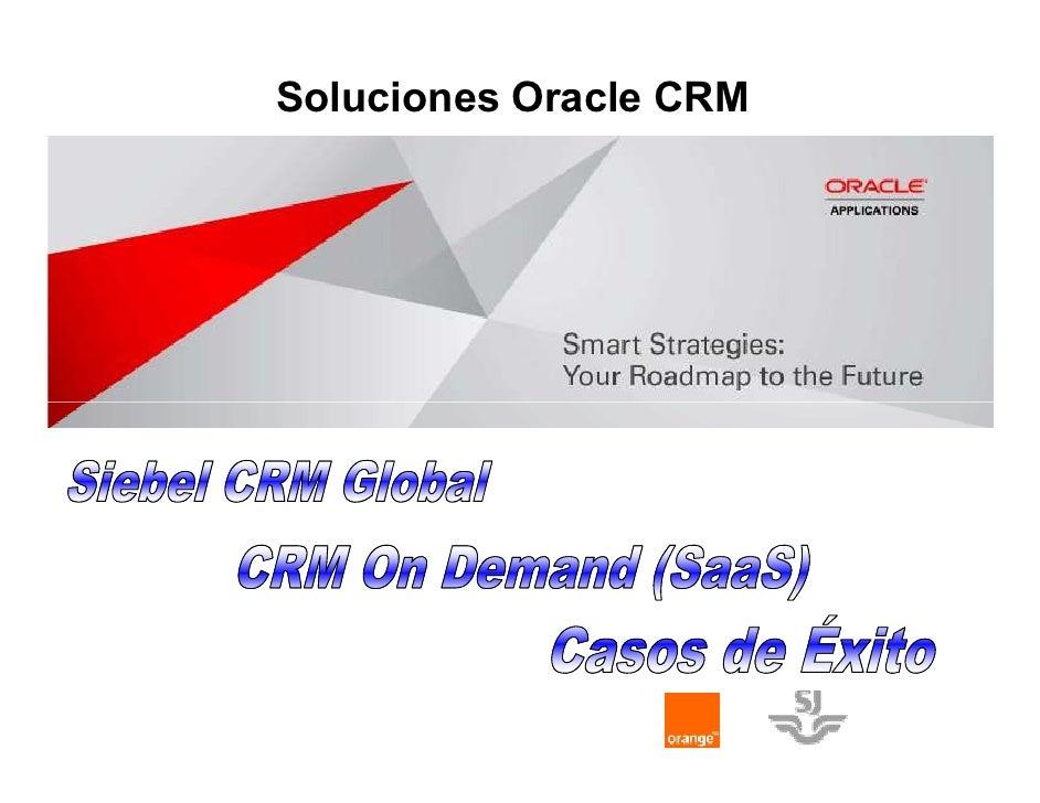 Soluciones Oracle CRM