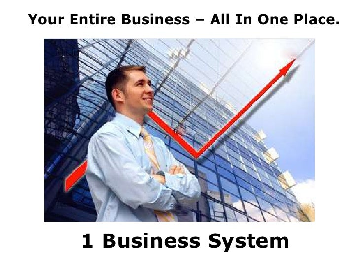 Your Entire Business – All In One Place.<br />1 Business System<br />