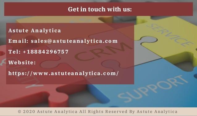 Astute Analytica Email: sales@astuteanalytica.com Tel: +18884296757 Website: https://www.astuteanalytica.com/ © 2020 Astut...