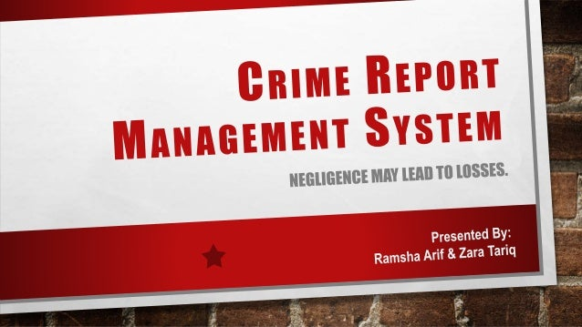 Crime Record Management System Crms