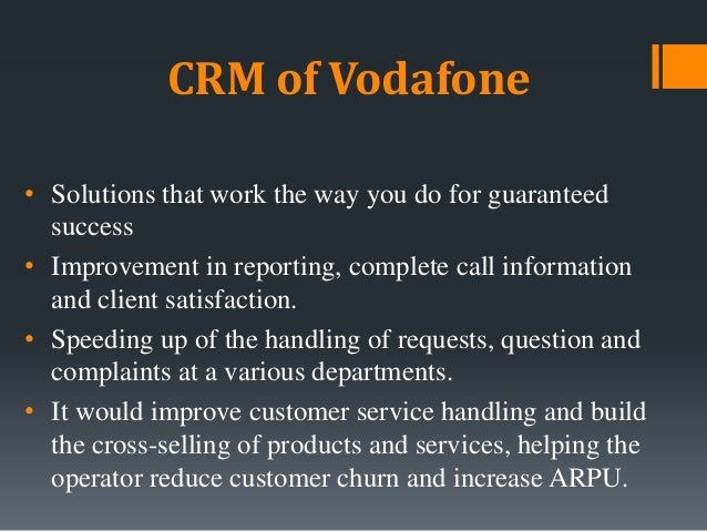 Building Vodafone's CRM • Vodafone ads play a great role in building up CRM. The ads in which the pug, two friends, Zoozoo...