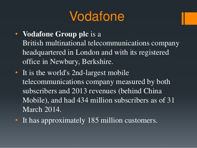 Vodafone Strategy in India