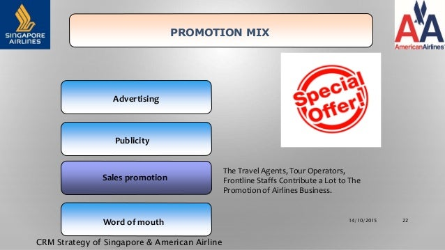 airlines promotion strategies Promotion if there is a weakness in the alaska airlines marketing mix, it would be in their promotion strategies while their ads have a history of being clever and.
