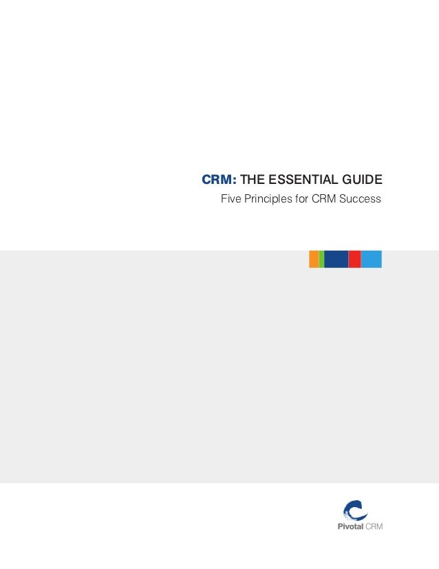 CRM: THE ESSENTIAL GUIDE  Five Principles for CRM Success