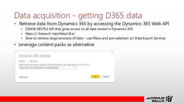 CRM UG Belux March 2017 - Power BI and Dynamics 365