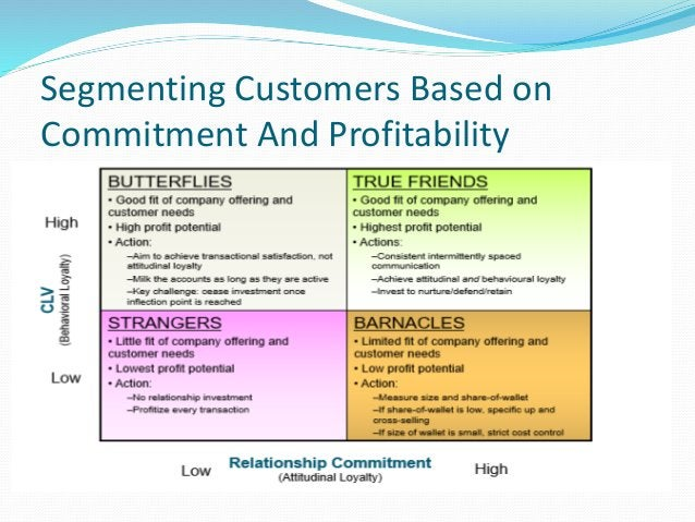Segmenting Customers Based on Commitment And Profitability