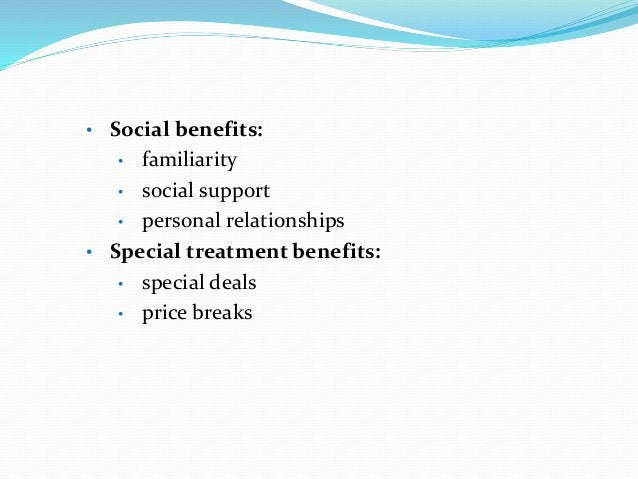 Benefits of Relationship Marketing Contd. • Benefits for Firms: • Economic benefits: • increased revenues • reduced market...