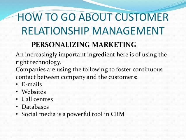 customer relation marketing